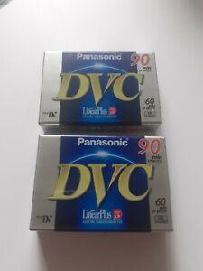 Pasasonic DVC 90 Min Digital Video Cassette Tape Mini DV NEW x 2