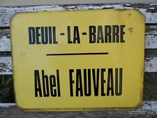 Plaque émaillée ancienne RATP de bus , rue loft ville : Deuil-la-Barre Fauveau