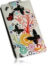 LG Optimus L7 2 (P710) Flip PU Leder Handytasche Colour-Butterfly-02 Case Cover