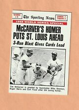 Topps 1969 Ws Game 3 - Tim McCarver - St. Louis Cardinals #164 Exc+