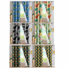 Pineapple Blackout Curtains Window Shower Curtains Eyelet Drape for Living Room