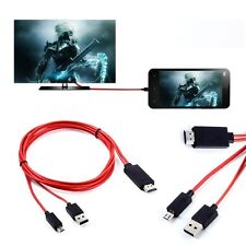 MHL Micro USB 1080P HDMI HDTV AV TV Adapter Cable Cord For HTC ONE m7 m8 phone