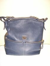 Beautiful Dooney & Bourke Large Leather Dillen Zipper Sac