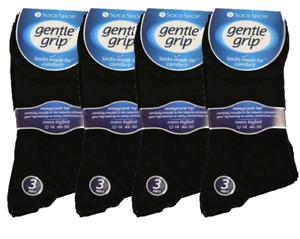 MENS BIG FOOT GENTLE GRIP NON ELASTIC DIABETIC SOCKS UK 12-14
