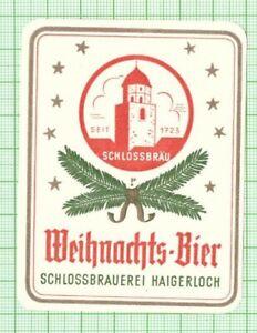 GERMANY Haigerloch Schlossbrauerei Weihnachts christmas beer label B089 191