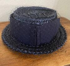 Vintage Women's Vintage Schiaparelli Navy Net Hat !