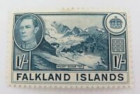 .FALKLAND ISLANDS 1938 KGVI 1/- MH Og ONE SHILLING.
