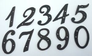 Numbers Cast Iron Metal Rustic Number for House Property Fence Letterbox