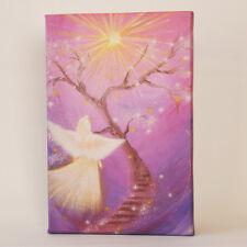 """✰E ✰ N ✰ G✰  E✰ L """"Dem Licht folgen"""" Engelbild auf Leinwand, Wandbild Geschenk"""