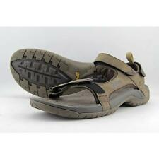 Teva Mens Tanza Brown Leather Spider Original Rubber Walking Sandals Shoes 12