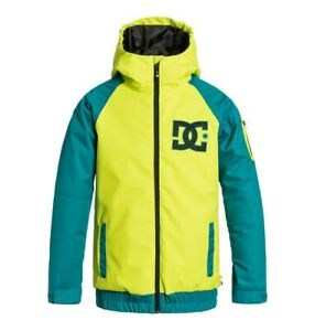 DC Troop Snowboard Jacket, Boys Youth Medium (12), Lime Punch Green New