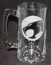 Thundercats Symbol Custom Etched Glass Beer Mug