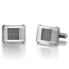 Stainless Steel Cable Design Cufflinks for Men
