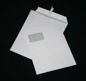 200 St. Briefumschläge DIN A4 C4 extra stark 120 gr. HK weiß mit Fenster