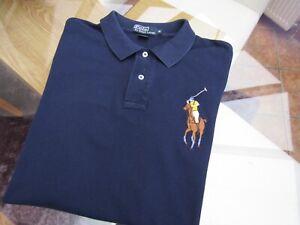 "Ralph Lauren Men's Medium  ""BIG"" Pony Polo  T-Shirt  -  44"" Chest"