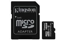 16GB Kingston Industrial Temperature microSDHC CL10 UHS-1 U1 Mem Card w/Adapter