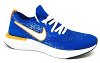 Nike Epic React Flyknit 2 Running Shoes Racer Blue / Orange Size 11 (CJ5228-400)