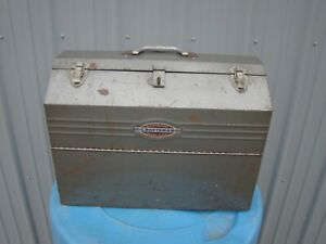 Vintage Craftsman #6536 Tombstone Metal Tool Box Cantilever Hip Roof w Trays