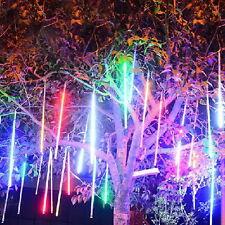 50cm 240 LED Solar Meteor Shower Light Waterproof  8 Tube Garden Lamp Xmas Decor