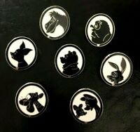 🍯 Exclusive COMPLETE Lot of (7) Winnie the Pooh & Friends Silhouette Pin Set