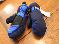 NWT Carters boy navy & blue lined mittens w/velcro closure; size 2T-4T