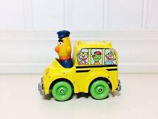 """Sesame Street Bert School Bus 2.5"""" Playskool Metal Toy Figure Jim Henson Muppets"""