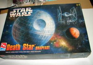 Star Wars  ANH ROTJ Death Star Model kit  complete AMT  1998     D62