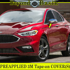 2013-2019 FORD FUSION Chrome Mirror COVERS Overlays W/Signal Hole