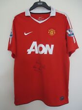 MANCHESTER UNITED OFFICIAL  FOOTBALL SHIRT BY NIKE  L SIGNED BY KEVIN MORAN