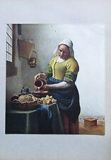 Johannes Vermeer van Delft DAS MILCHMÄDCHEN Originaldruck aus ca. 1920 old print