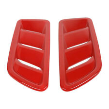 2PC Red Front Engine Hood Air Vent Cover Trim Fit For Jeep Wrangler JL 18-19 o