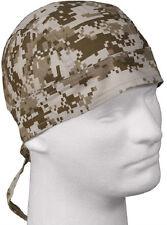 Desert Digital Camo Headwrap Biker Bandana Do Rag Cotton Rothco 5201