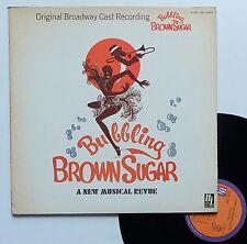 "LP Original Broadway cast   ""Bubbling brown sugar"""