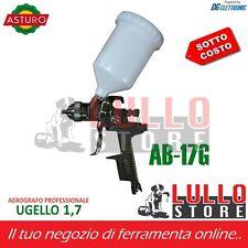AEROGRAFO PISTOLA PROFESSIONALE VERNICIATURA ASTURO 600ml AB-17G UGELLO 1.7mm