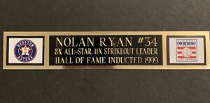 Nolan Ryan Engraved Name Plate