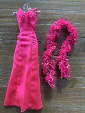 Vintage BARBIE Superstar Doll Original Hot Pink Satin Dress & Boa VGC
