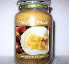 "Yankee Candle ""WARM APPLE CRISP"" Large 22 oz. RARE & VHTF ~ WHITE LABEL~ NEW"