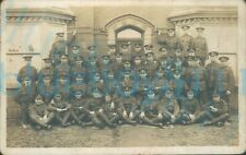 More details for ww1 brecknockshire battalion soldiers group platoon photo front of large house