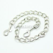 Steel chain two hooks hog tie Bondage accessory parts for Wrist Hand ankle cuffs