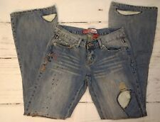 Lazer Jeans Size 5 Hippie Low rise Boot cut Flare  Embellished VTG  Rave Store