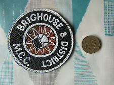 Vintage  BRIGHOUSE & District  MCC  1990's  Motor Cycle Club Sew on Cloth Badge