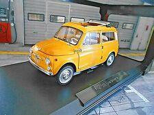 FIAT 500 Giardiniera Kombi Familare 1968 gelb yellow positano Norev NEU 1:18