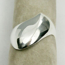 Abstract Plain Edge Ring Genuine 925 Sterling Silver - R3487