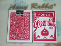1 deck red streamline playing cards poker size standard index-S10586-O