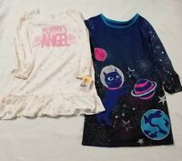 Lot Of 2 New Toddler Girl's Cat & Jack & Carters Long Sleeve Nightgowns Size 4T