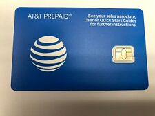 At&T Nano Cut Sim Card 3G/4G Sku#6006A Go Phone Ready To Activate At&T Prepaid