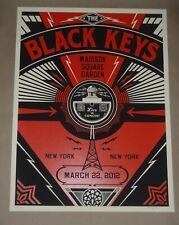 The Black Keys New York NYC concert poster gig art print Shepard Fairey 2012