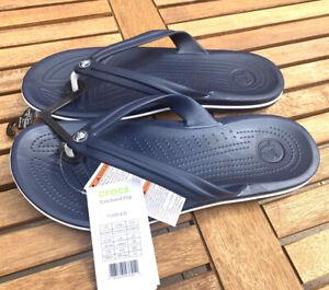 Crocs Crocband Unisex Flip Flops Navy Sandals Size UK 9/10 - Eur 43/44