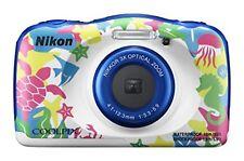 Nikon COOLPIX W100 13.17MP 3x Wi-Fi Waterproof Digital Camera Marine F/S wTrack#