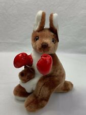 """Australia Boxing Kangaroo W/ Baby Joey 10"""" W/ Boxing Gloves Excellent Condition"""